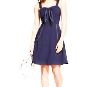 A New Day Navy Tie Front Sleeveless Dress